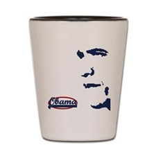 Victory for Obama Shot Glass