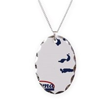 Victory for Obama Necklace Oval Charm