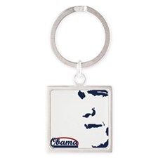 Victory for Obama Square Keychain