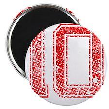10, Red, Vintage Magnet