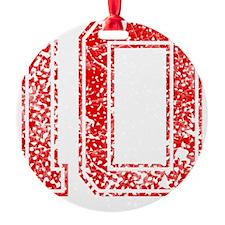 10, Red, Vintage Ornament