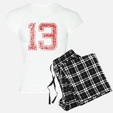 13, Red, Vintage Pajamas