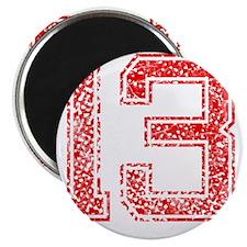 13, Red, Vintage Magnet