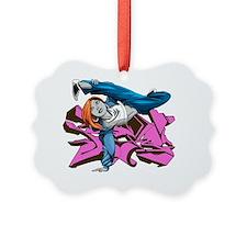 Bgirl purple graffiti Ornament
