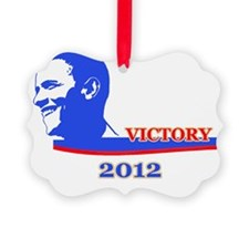 Victory for Obama Ornament