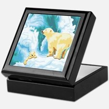 Mama and Cub Polar Bear Keepsake Box