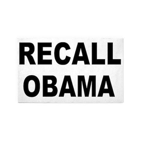 anti obamarecall obama big 3'x5' Area Rug