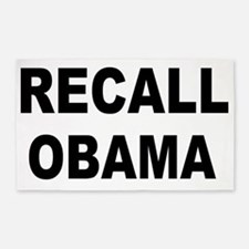 anti obamarecall obama big 3'x5' Area Rug