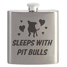 Sleeps with Pit Bulls Flask