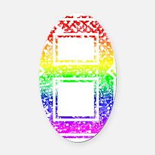 8, Gay Pride, Oval Car Magnet