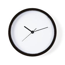 Sleeps with Pit Bulls Wall Clock