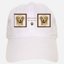 Mans Best Friend Golden Retriever Portrait Baseball Baseball Cap