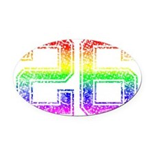 26, Gay Pride, Oval Car Magnet