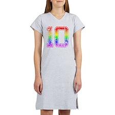 10, Gay Pride, Women's Nightshirt