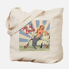 Mermaid Sea of Love Tote Bag
