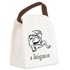 a litigator Canvas Lunch Bag