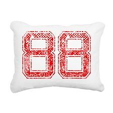 88, Red, Vintage Rectangular Canvas Pillow