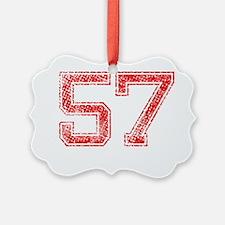 57, Red, Vintage Ornament