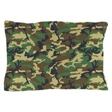 Woodland Camo Pillow Case