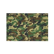 Woodland Camo Rectangle Magnet