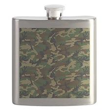 Woodland Camo Flask