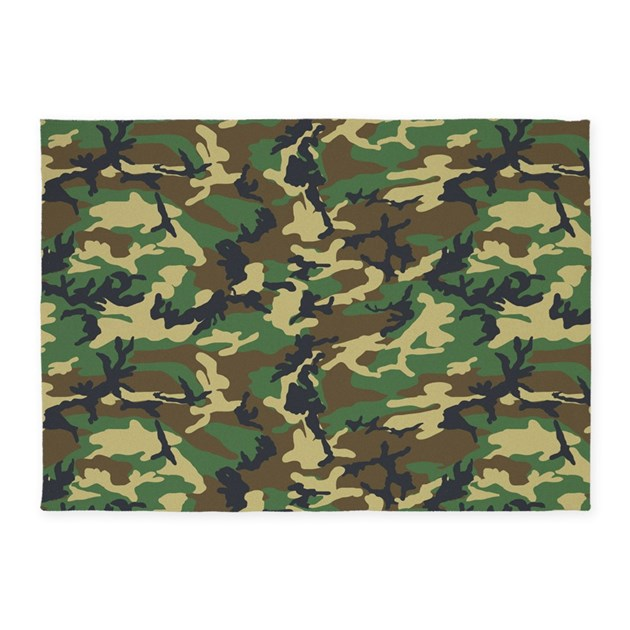 Camo Bathroom Rugs: Woodland Camo 5'x7'Area Rug By ADMIN_CP71905059