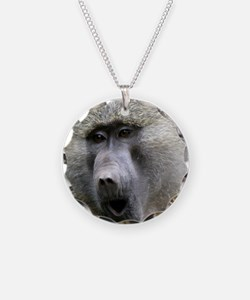 Olive Baboon Necklace