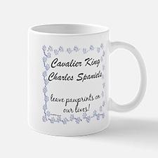 Cavalier Pawprints Mug