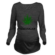 Vegetarian Weed Long Sleeve Maternity T-Shirt