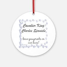 Cavalier Pawprints Ornament (Round)