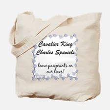 Cavalier Pawprints Tote Bag