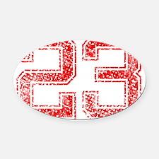 23, Red, Vintage Oval Car Magnet