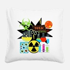 Mad Scientist Square Canvas Pillow