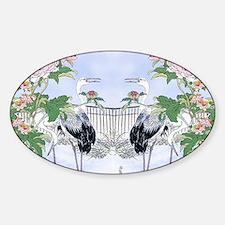 PILLOW CASE horiz-Cranes-Peonie  Decal