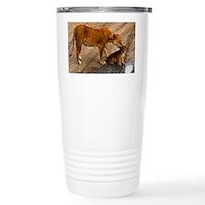 Lioness and cub Travel Mug