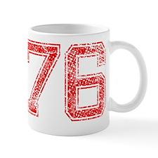 76, Red, Vintage Mug