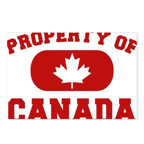Property Of Canada Design Postcards (Package of 8)