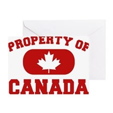 Property Of Canada Design Greeting Card