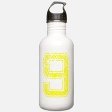 9, Yellow, Vintage Water Bottle