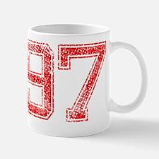97, Red, Vintage Mug