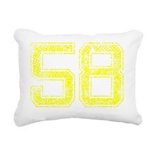 58, Yellow, Vintage Rectangular Canvas Pillow