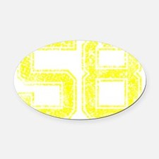 58, Yellow, Vintage Oval Car Magnet