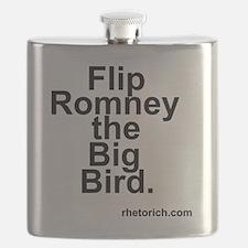 Flip Romney the Big Bird Flask