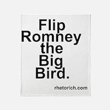 Flip Romney the Big Bird Throw Blanket