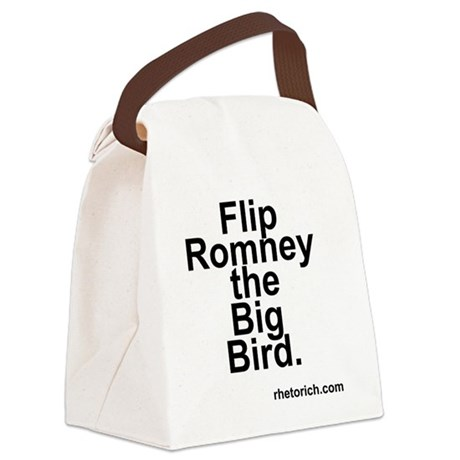 Flip Romney the Big Bird Canvas Lunch Bag