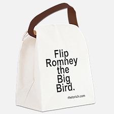 Flip Romney the Big Bird Canvas Lunch Bag