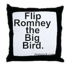Flip Romney the Big Bird Throw Pillow