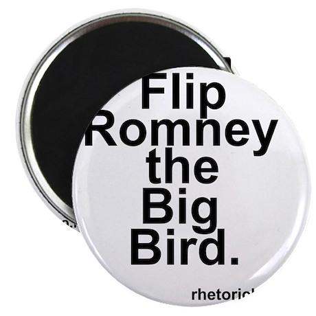 Flip Romney the Big Bird Magnet