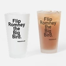 Flip Romney the Big Bird Drinking Glass