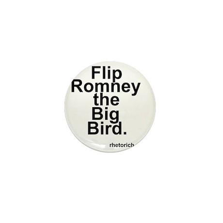 Flip Romney the Big Bird Mini Button
